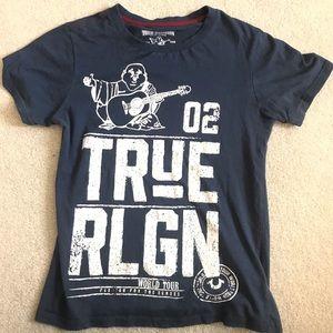 Boys True Religion t-shirt Blue small medium
